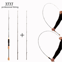 YIYI cheap ul/L spinning rod 0.8 5g lure weight Ultralight Carbon spinning rods line weight ultra light spinning fishing rod