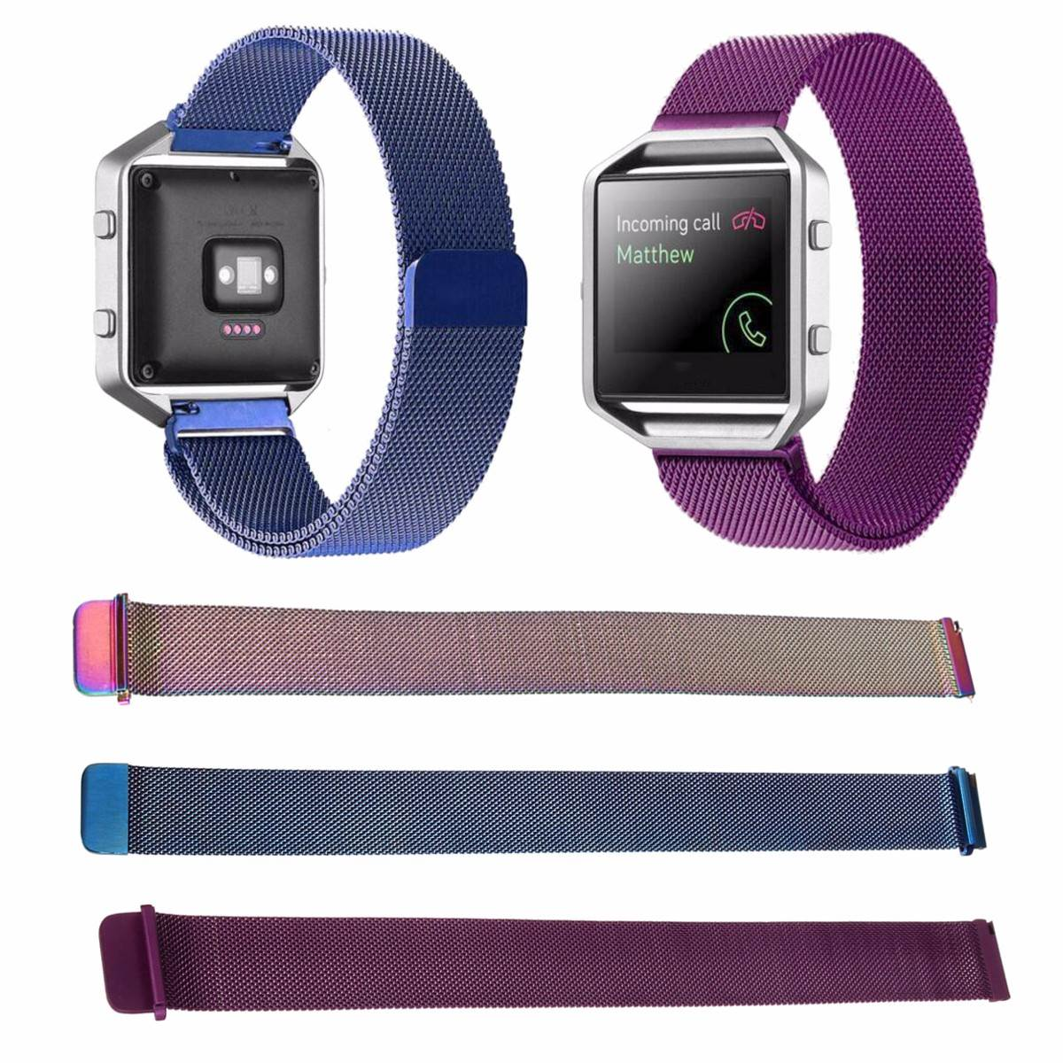 New Arrival Metal Frame + Milanese Magnetic Watchband Wrist Watch Strap For Fitbit Blaze Tracker Replcement Watchstraps crested milanese loop strap metal frame for fitbit blaze stainless steel watch band magnetic lock bracelet wristwatch bracelet