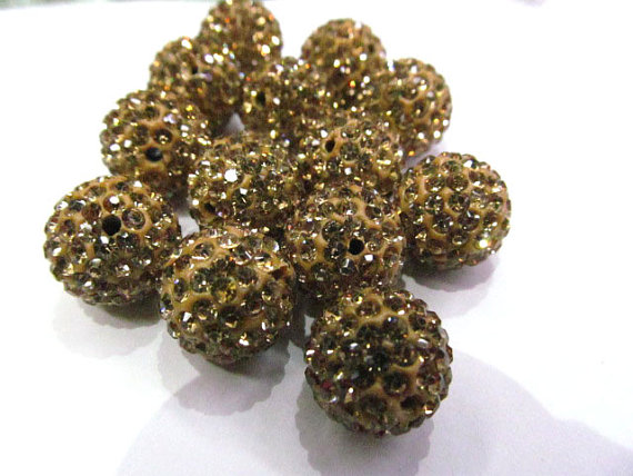Jewelry & Accessories Whoesale 50pcs 4-16mm Micro Pave Clay Crystal Rhinestone Round Ball Lais Blue Gold Clear White Mixed Charm Beads