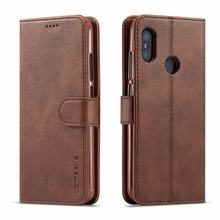 Case For Xiaomi Mi A2 Lite Case Cover Luxury Vintage Magnetic Wallet L