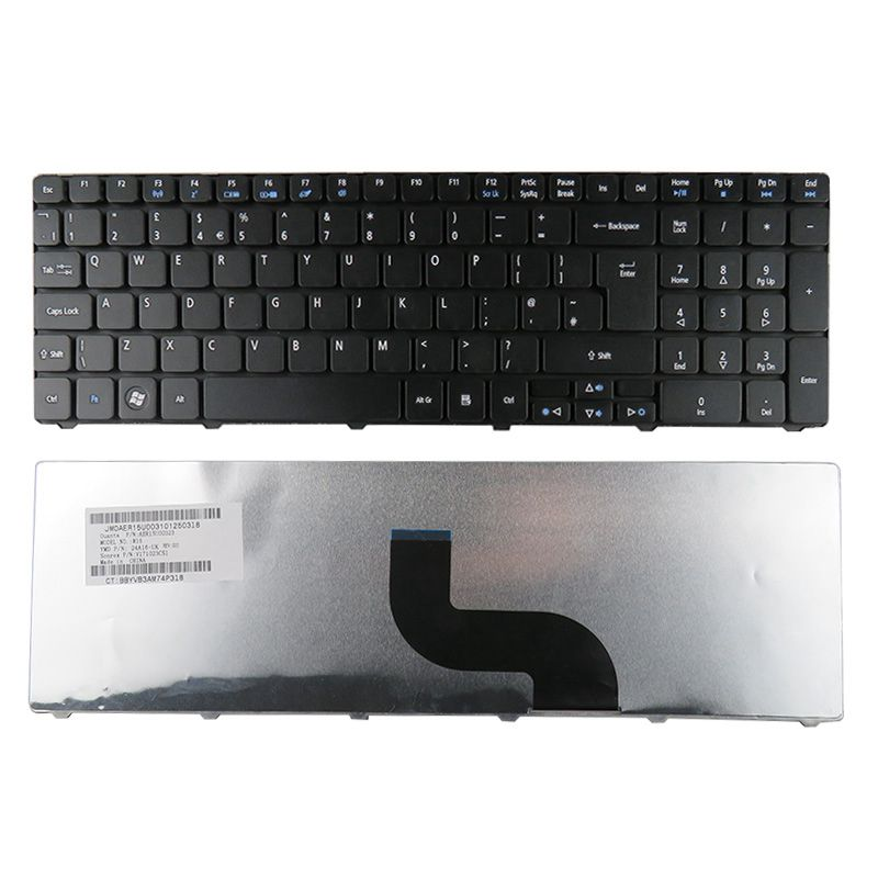GZEELE UK Laptop Keyboard FOR Acer Aspire 5738Z 5738G 5738ZG 5810 5810T 5810TG 5810TZ KBI170A055 NSK-AL00U V104730AK1