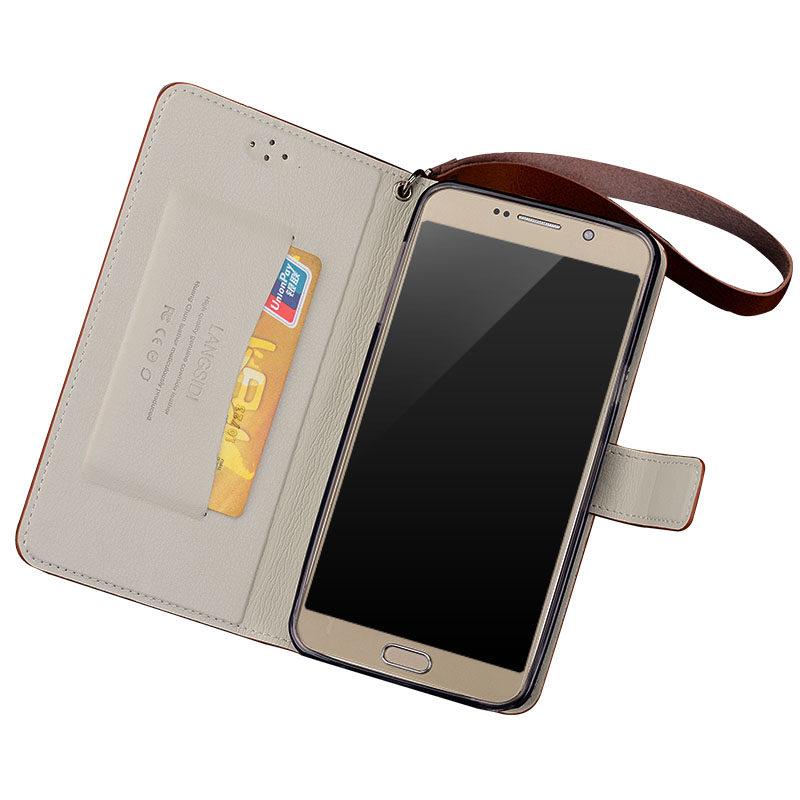 Étui de téléphone portable à boucle magnétique à armure toile de marque pour Nokia x6 étui de téléphone portable à la main