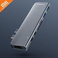 Многофункциональный расширитель Xiaomi hagибис type-C 7 в 1 интерфейс с разъемом Thunderbolt 3/HDMI/TF/USB 3,0