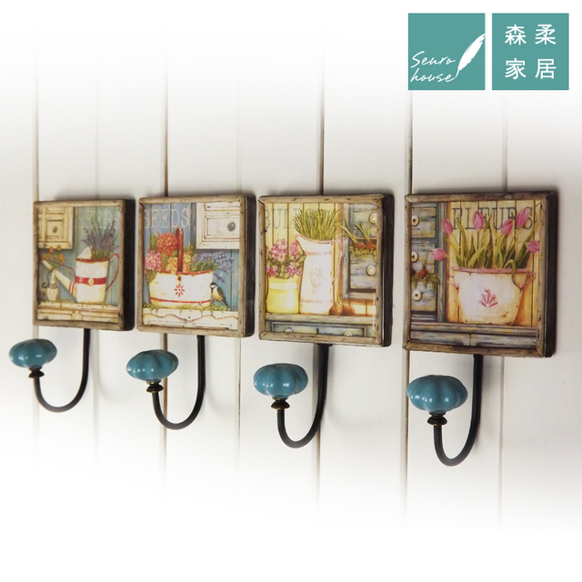 American Continental Pastoral Hook Coat Hooks Wall Hooks Decorative