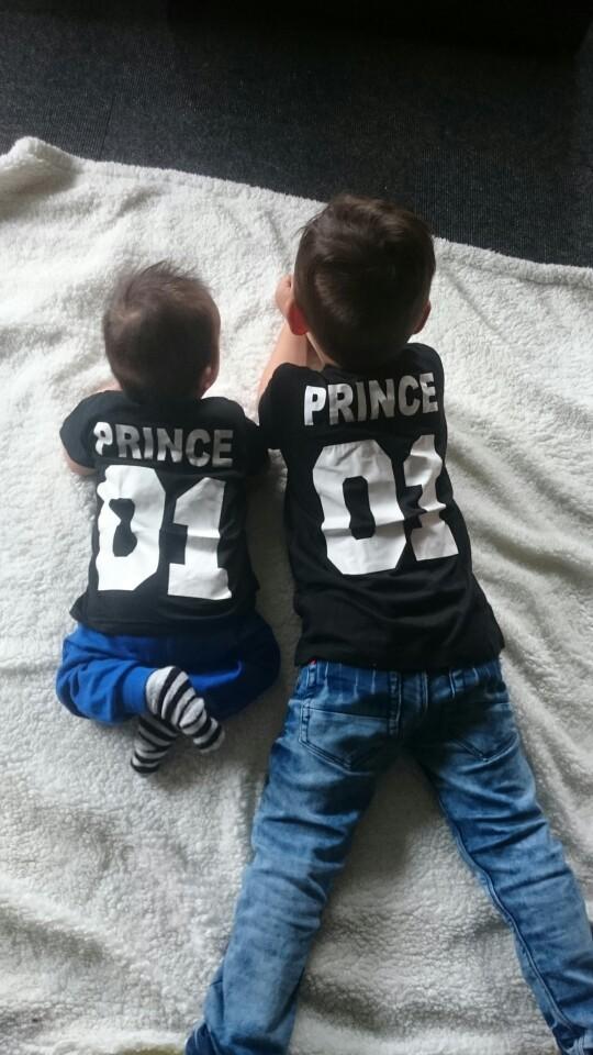 BKLD New 100% Cotton Matching T shirt King 07 Queen 07 Prince Princess Letter Print Shirts,Casual Men/Women Lovers Tops Newborn 17
