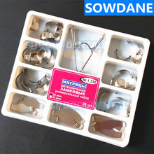 36 Pcs/Set Dental Sectional Contoured Matrices Matrix with Springclip No.1.330 Metal
