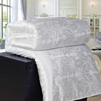100% mulberry silk tröster bettdecken stepp decke sommer winter könig königin volle twin größe duvet bettwäsche set weiß/rosa