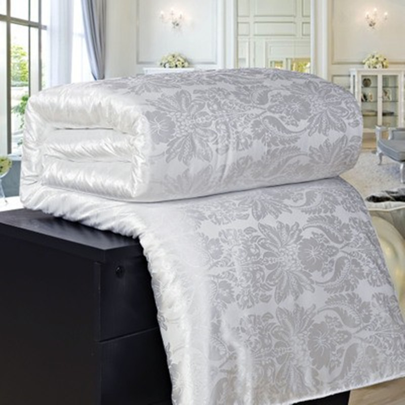 New Natural/Mulberry Luxury Silk Comforter Duvet Hand-made Twin Queen King Full Size Blanket Quilt Jacquard Bedding In Filler