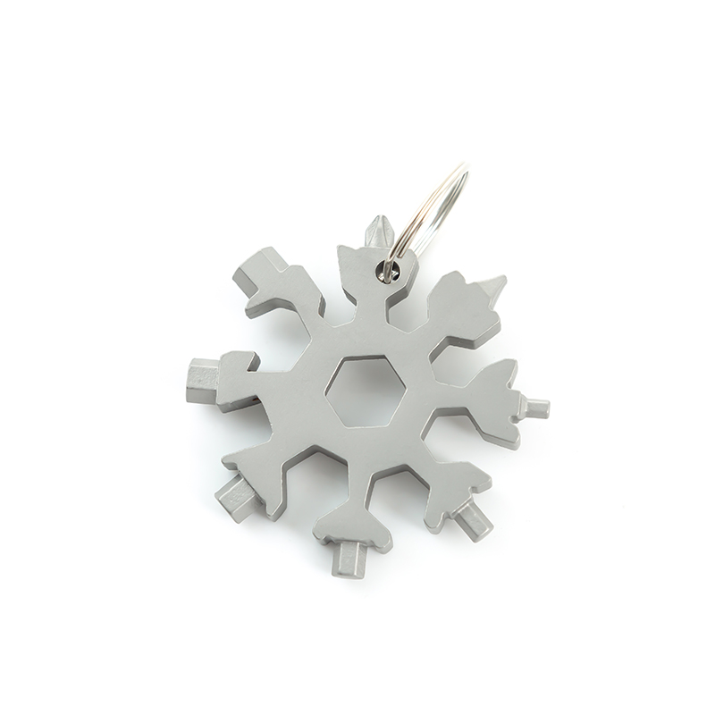 EDC Multifunction Tool 19 In 1 Keychain Tool Screwdriver Opener Snowflake Shape