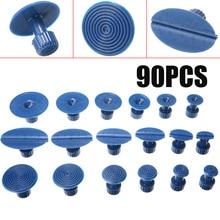 90pcs/set Car Body Dent Puller Glue Pulling Tabs Paintless Removal Repair Tools Kit