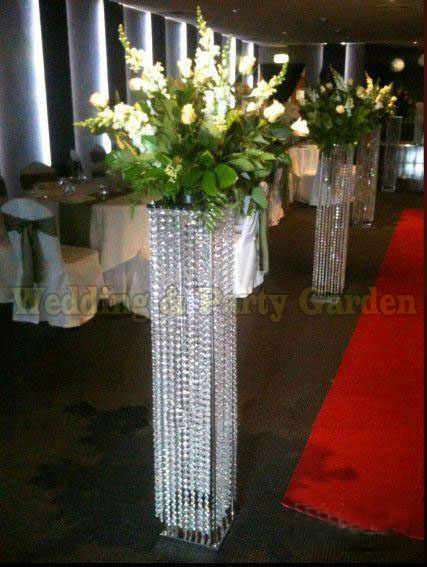 Free Shipping 120cm H Wedding Crystal Columns Wedding Centerpiece