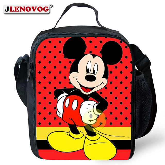 28fa5e68a011 US $13.1 31% OFF|Kids Mickey Minnie Mouse Lunch Bag Pranzo Tote with 3D  priting Insulated Lunch Box Bags Crossbody Handbag Waterproof Oxford  2019-in ...