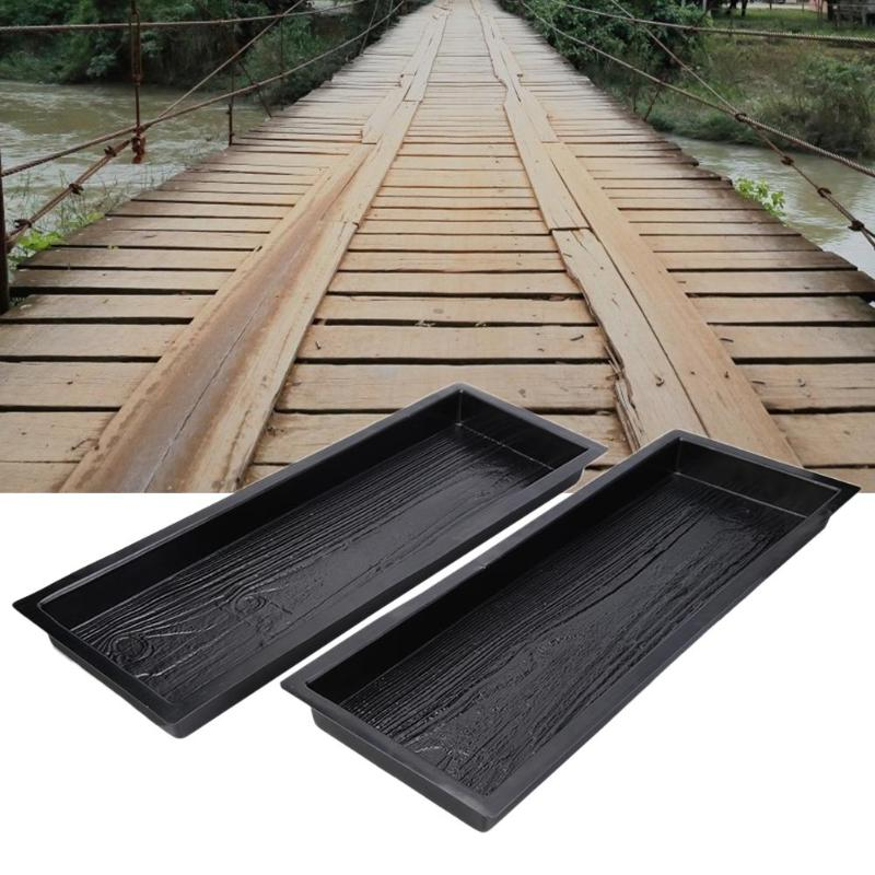 DIY Paving Cement Mould Wood Grain Path Maker Courtyard Park Road Pavement Mold Garden Supplies