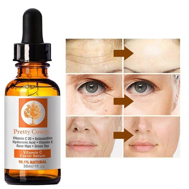 Máscara de maquillaje Base vitamina C suero Rosa hidratante esencia blanqueamiento té verde eliminar acné antiarrugas imperfecciones faciales