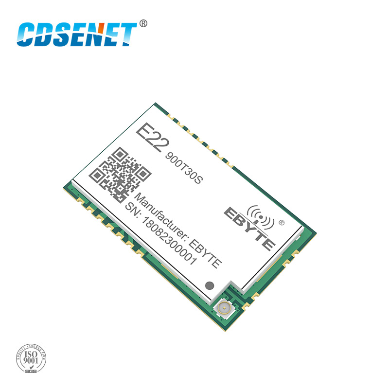 SX1262 LoRa 868MHz 915MHz 30dBm SMD Wireless Transceiver E22-900T30S  IPEX Stamp Hole 1W Long Distance TCXO Transmitter Receiver