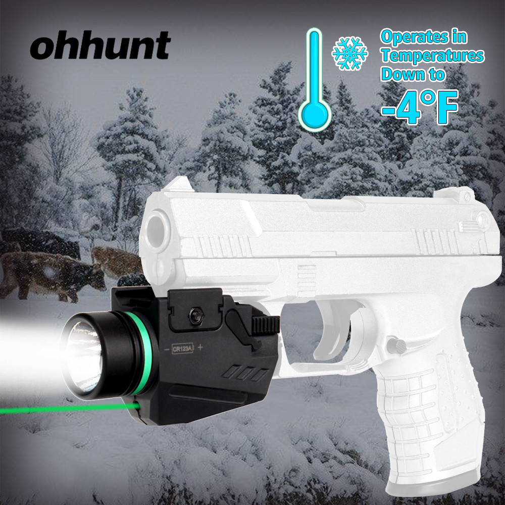 ohhunt Tactical Hunting Red Green Laser Sight LED Flashlight Integrated Combo Nylon Material for Weaver Picatinny Rail Mount hunting compact tactical green laser sight flashlight combo low profile pistol handgun light with 20mm picatinny rail