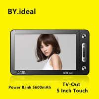 HD Touchscreen MP4 Player 8gb 5600mah Power Bank Build-in Lautsprecher 5 Zoll MP4 Musik TV heraus MP5 Video Player mit 30 sprachen