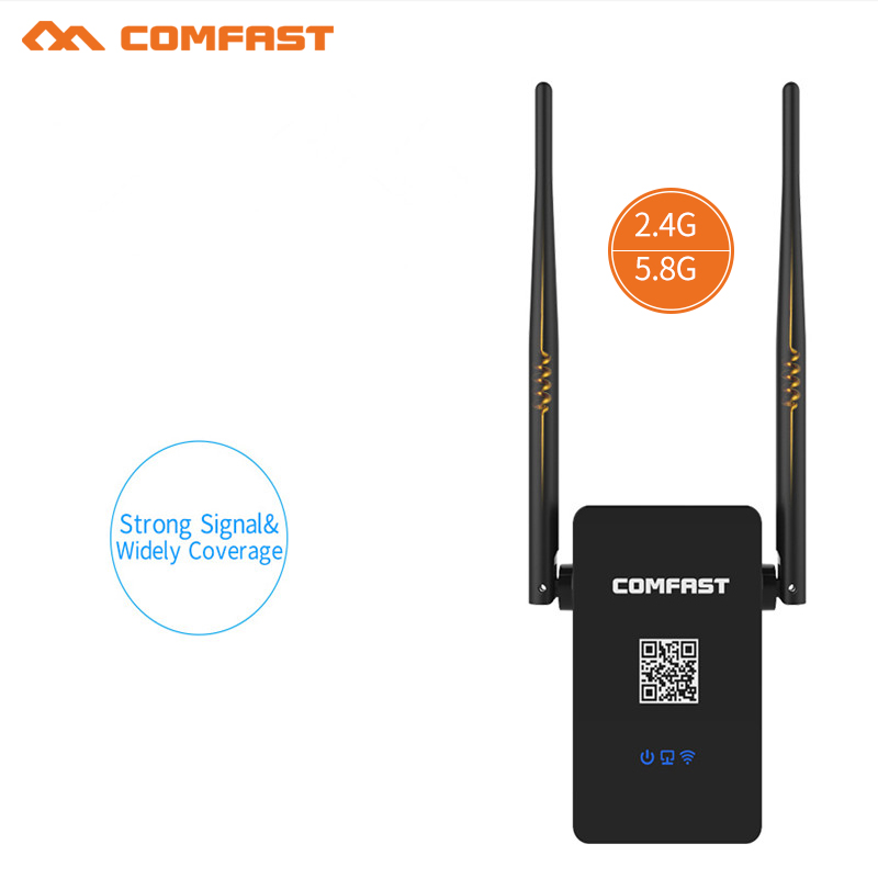 COMFAST Wireless Wifi Repeater 750Mbps 802.11ac pc Network Wifi Extender Signal Amplifier Signal Booster Repetidor by Spain ship