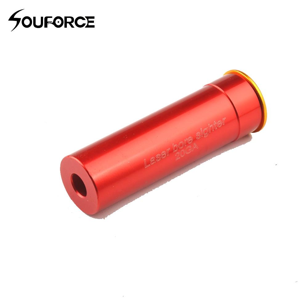 Тактический лазерный Прицельный патрон 20 GA, Прицельный патрон из алюминия с красным прицельным красным медным 20GA с бабочкой