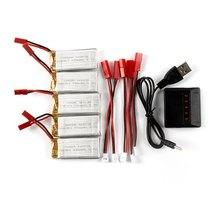 Nouvelle Arrivée 5×3.7 V 700 mAh Batterie + Équilibre Chargeur/Câble ensemble Accessoire pour JXD 509G 509 W LIDI L6W L6F JJRC H12C RC Drone