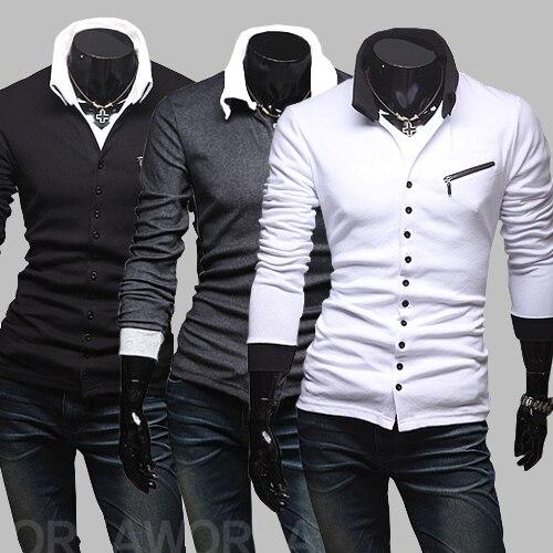Aliexpress.com : Buy autumn unique oblique zipper slim men's ...