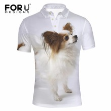 FORUDESIGNS Summer Short Sleeve Polo Shirt For Men Boy 3D Papillon Design Polo Shirt Fitness Comfortable Casual Mens Dress Shirt