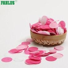 FANLUS Biologisk nedbrytbare 2,5 cm papirkonfetti til jubileumsdag, bursdagsavläggande, bryllup, bryllup, brude- og babyfester, sirkler 30G