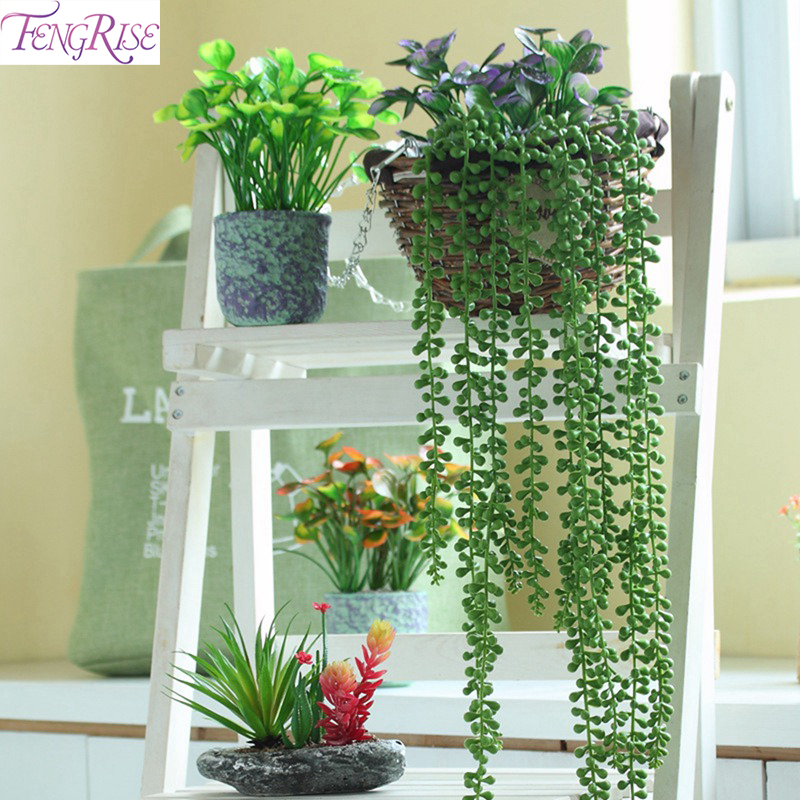 FENGRISE 1PCS Artificial Ivy green Leaf Garland Plants Vine Fake Foliage Flower Home Decor Plastic Wall