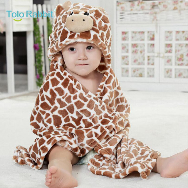 Brown Leopard Baby Blanket Newborn Baby Wrap Swaddling Animals
