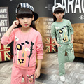 Kids Girls Casual Clothing Set Floral Print Long Sleeve Cotton Spring Autumn Girls motion Suit 5 6 7 8 9 10 11 12 13 14 years