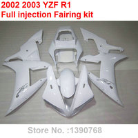 Aftermarket body parts fairings for Yamaha YZF R1 2002 2003 white motorcycle fairing kit YZFR1 02 03 BV33