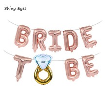 Shiny Eyes 16inch Bachelorette Party Decorations Gold Foil Bride Balloon Banner Garland Bridal Shower Supplies