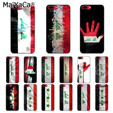 MaiYaCa Iraq National Flag Luxury Soft Rubber Black Phone Case for Apple iPhone  5 5S SE 6 6S 7 8  Plus X XS MAX XR Mobile Cases цена