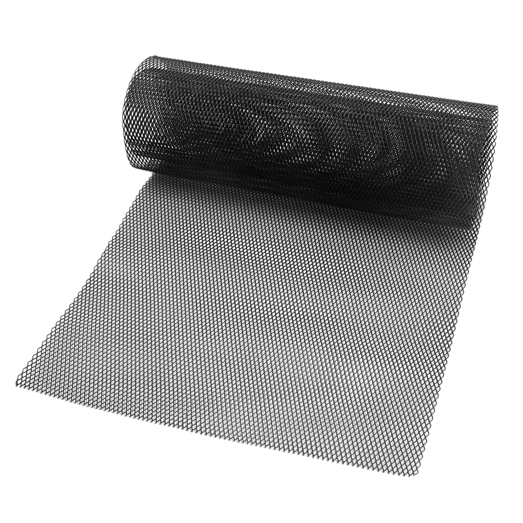 1x Universal Car Vehicle Silver Tone Aluminum Alloy Rhombic Grille Mesh Sheet Black for Bumper Hood Vent Vehicle 100x33cm-in Front & Radiator Grills from Automobiles & Motorcycles