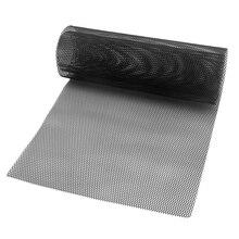 1x evrensel otomobil araç gümüş ton alüminyum alaşımlı Rhombic ızgara çelik çit için siyah tampon Hood havalandırma araç 100x33cm