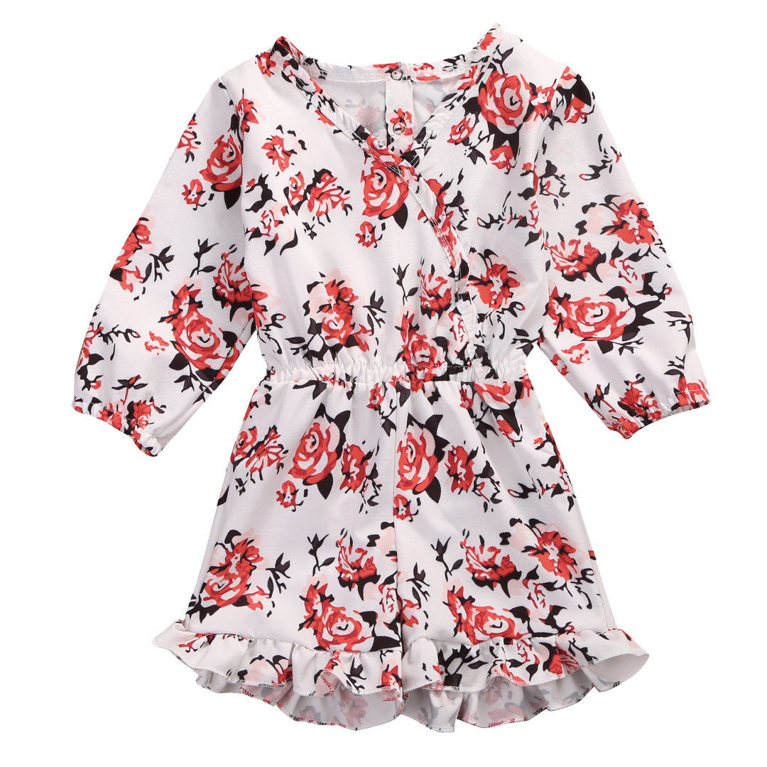 Newborn Baby Girl Kid Girl Romper Floral Long Sleeve Romper Jumpsuit Summer Outfit Clothes newborn infant baby girl clothes strap lace floral romper jumpsuit outfit summer cotton backless one pieces outfit baby onesie