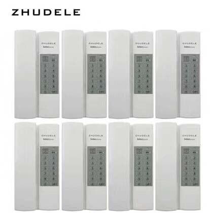 Zhudele Top Qualität Multi-funktionen Safe & Gemütliches Zuhause Sprech 8-fach Audio-gegensprechanlage Entsperren optional Moderater Preis