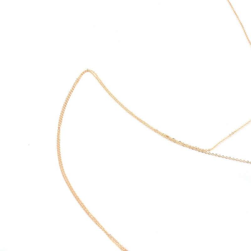Cor de ouro sexy biquini corpo jóias para mulheres acrílico contas verão praia barriga cintura corpo jóias colar bijoux femme presente
