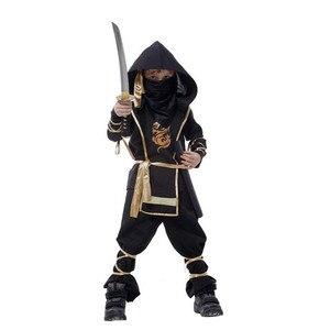 Image 2 - ילדים Ninja תחפושות ליל כל הקדושים מסיבת בני בנות לוחם התגנבות ילדי קוספליי Assassin תלבושות ילדי של יום מתנות