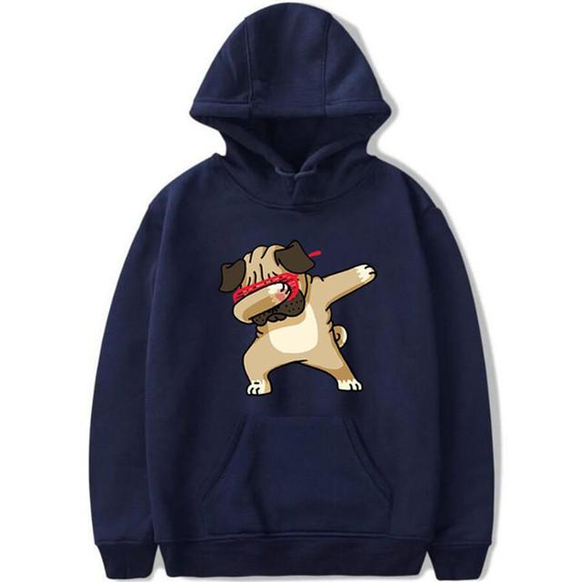 Men's Hoodies Autumn Winter Unisex Long Sleeve Hoodies Men/Women coat Animal Dog Print Hip hop Casual Sweatshirts Men hoody 4XL