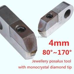 Posalux typ narzędzia diamentowe V-cut 80 stopni ~ 170 stopni monokryształów diament szerokość cięcia 4mm