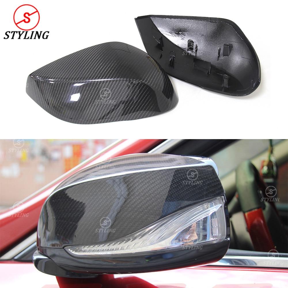 For Infiniti Q50 Q50S carbon mirror cover 2014 2015 2016- UP Q50 Carbon Fiber Rear side View Mirror Cover
