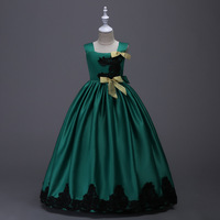 Children Ball Gown Princess Dress Kids Embroidery Bow Halloween Party Dresses Tutu Teen Frocks Clothes for Girls 6 8 10 12 Years