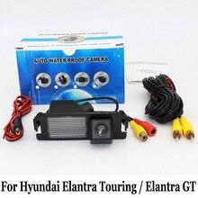 Для Hyundai Elantra Touring/Elantra GT/RCA Провода Или беспроводные Камеры HD Широкоугольный Объектив CCD Ночного Видения Заднего Вида камера