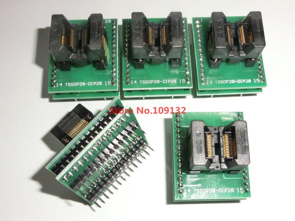 TSSOP28 к DIP28 адаптер TSSOP20 TSSOP24 TL866A TL866CS программист адаптер SSOP28 к DIP28 IC тестовое гнездо адаптер шаг 0,65 мм