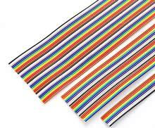 1 metro/6/8/10/14/16/20/24/26/30/34/40Pin forma Color DuPont Cables Cable plano 1,27mm por 2,54mm FC conectores IDC de la resistencia