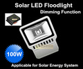 100W Solar LED Floodlight with PMW Solar Controller 100W Solar Lights dimmable function led flood light street lighting lamp