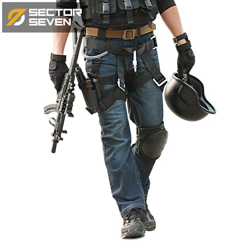 Cordura SWAT Militaire Cargo Jeans Hommes Casual Jeans Stretch Multi Poches Armée de Combat Tactique