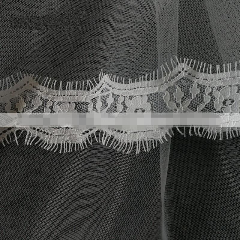 Romantisk vit elfenben Korta bröllopslingor med kam Bridal Veil Veu - Bröllopstillbehör - Foto 2