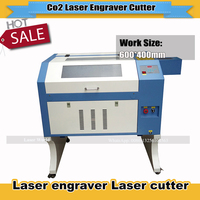 New 50W CO2 Cutting 2D 3D Crystal Laser Engraving Machine TS4060 with 400*600mm working size